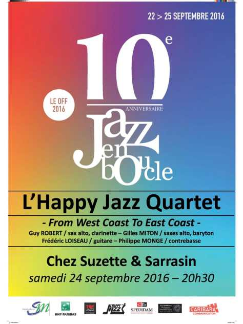 Affiche de L'Happy Jazz Quartet à Jazz en boucle 2016