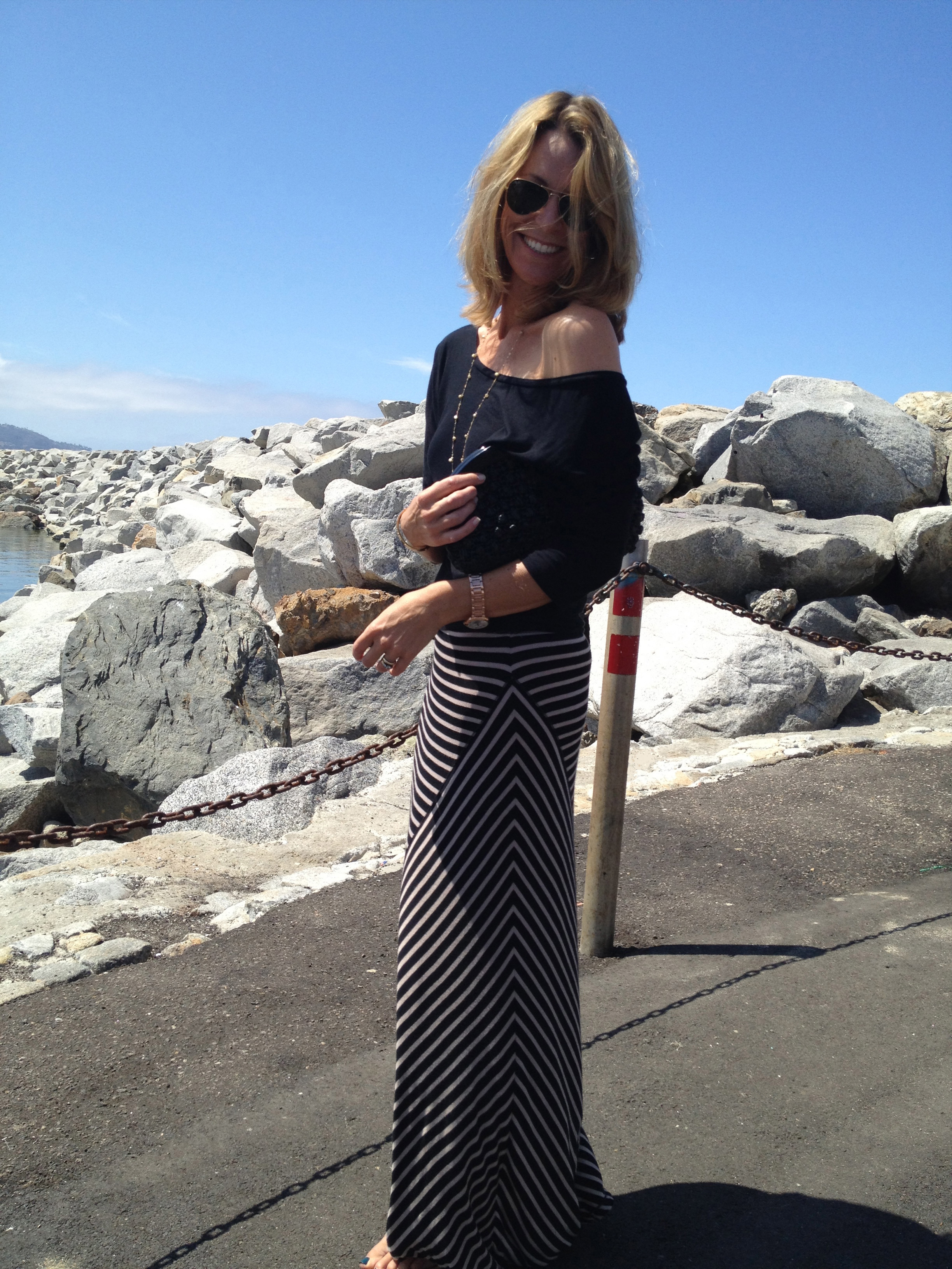 Striped Maxi Skirt Trace Style Create Live