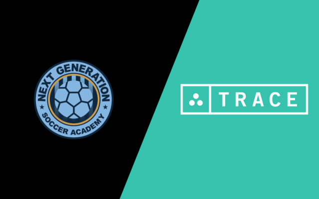 Next Generation Soccer Academy and Trace logos.