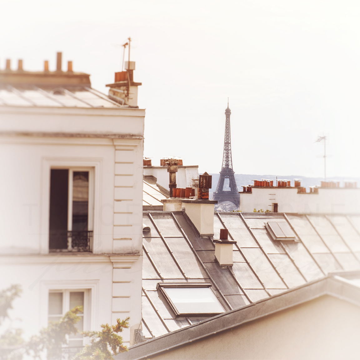 The Eiffel Tower as seen from Montmartre by Chicago artist Tracey Capone