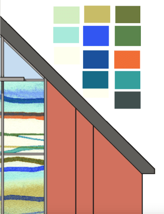 Creating a colour palette from Steve Raw's window design