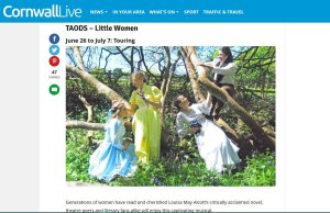 Little Women listing on the website page Cornwall Live