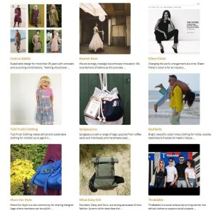 A snapshot of 9 brands in the Ethical Fashion Directory