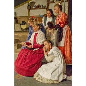 The Little Women costumes are simple but colourful