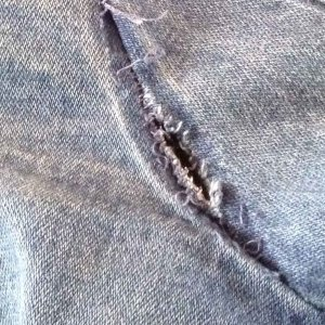 Ned to resew seam in denim jacket