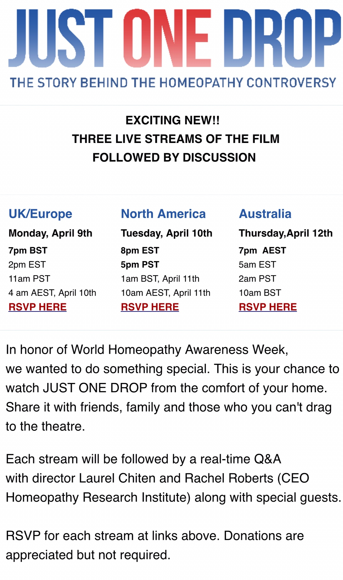 2Pm Bst To Aest watch homoeopathic documentary at home - tracey lee morley