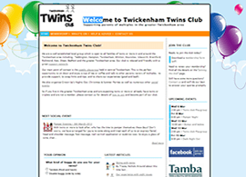 Twickenham twin club website screenshot