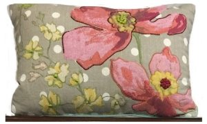Inspiration Pillow Pink and Metallic Gold Stenciled Dresser | Tracey's Fancy