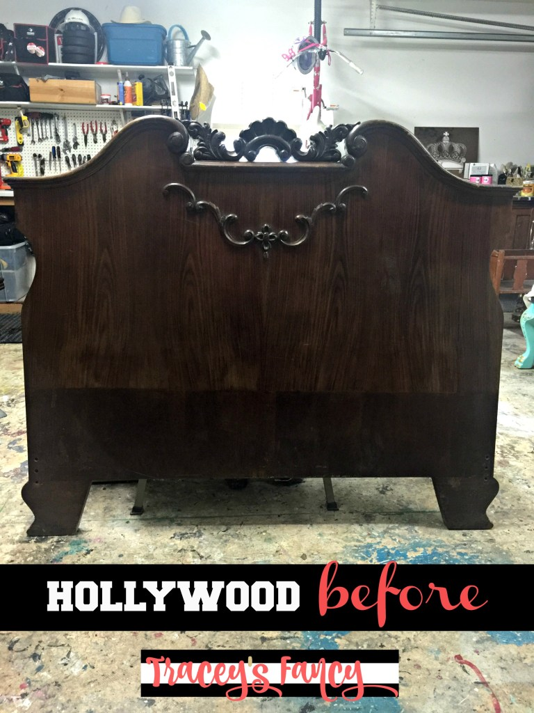 Old Hollywood Bed Makeover Before | Tracey's Fancy
