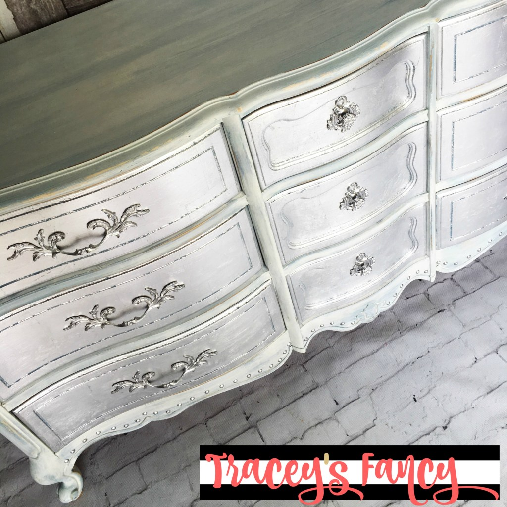Metallic Silver Dresser - After | Tracey's Fancy