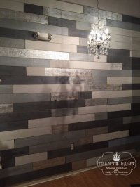 The First Ever Metallic Wood Plank Wall - Tracey's Fancy