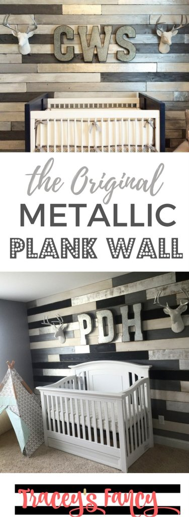 Pin it: The Original Metallic Plank Wal | Tracey's Fancy
