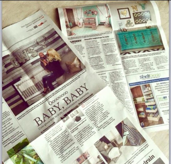 Tracey's Metallic Wood Plank Wall in the newspaper