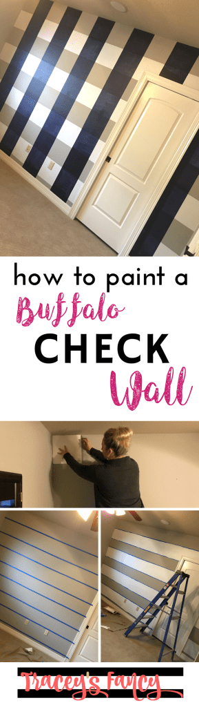 how to paint a buffalo checkwall | Accent Wall Ideas | Plaid Wall | Painting Tips by Tracey's Fancy
