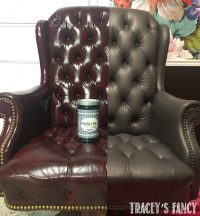 Painting a Gray Leather Chair - An Easy Home Office Update