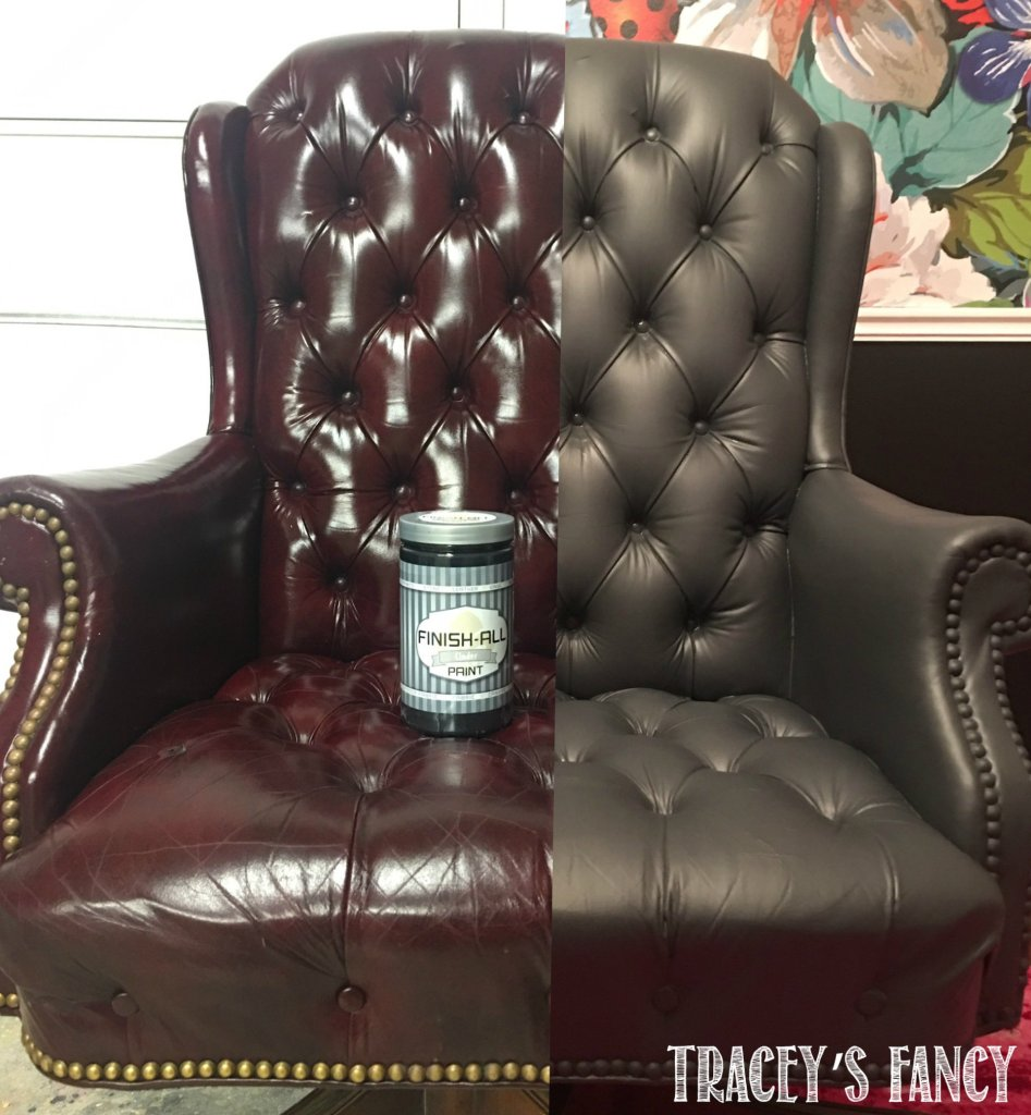 Where To Buy Paint For Leather Sofas: Painting A Gray Leather Chair