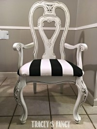 Black and White Glazed Chair Tracey's Fancy 1 logo ...