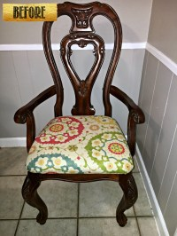 Black and White Glazed Chair Tracey's Fancy Before logo ...