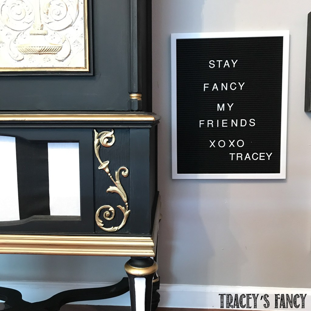 Painted Radio Cabinet-Tracey's Fancy