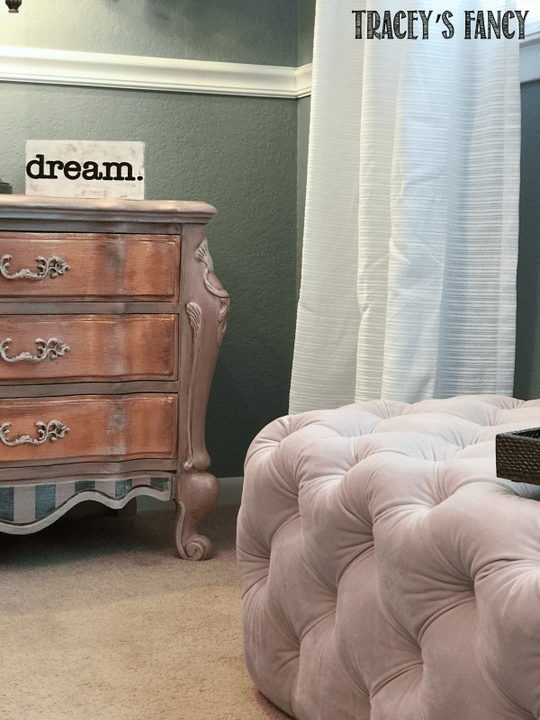Gray and Rose Gold Girls Bedroom by Tracey's Fancy