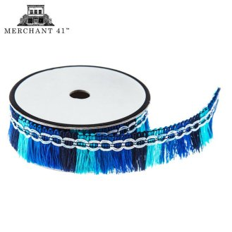 Blue Boho Fringe Ribbon