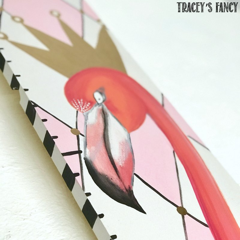 Flamingo DIY Growth Chart by Tracey's Fancy