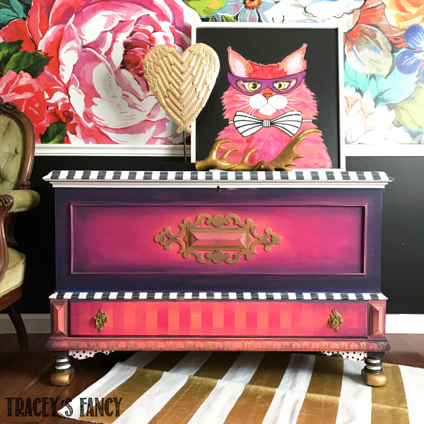 Painted Blanket Chest-Tracey's Fancy-After 1_