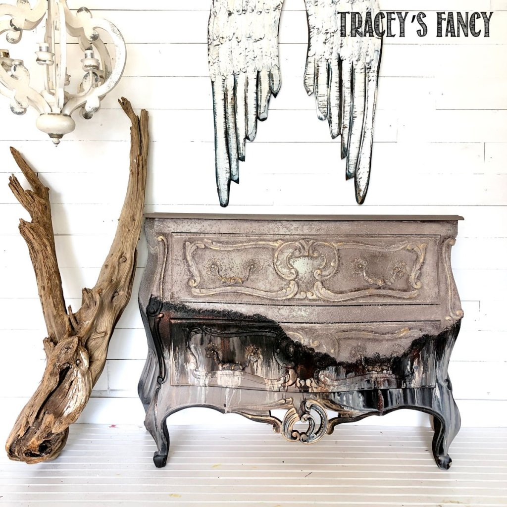 Tattered Elegance Furniture Finish by Traceys Fancy