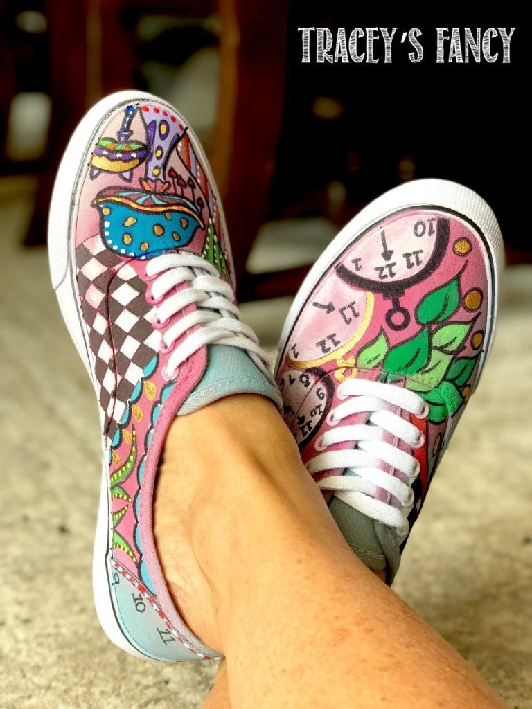 Whimsical Painted Shoes by Tracey's Fancy