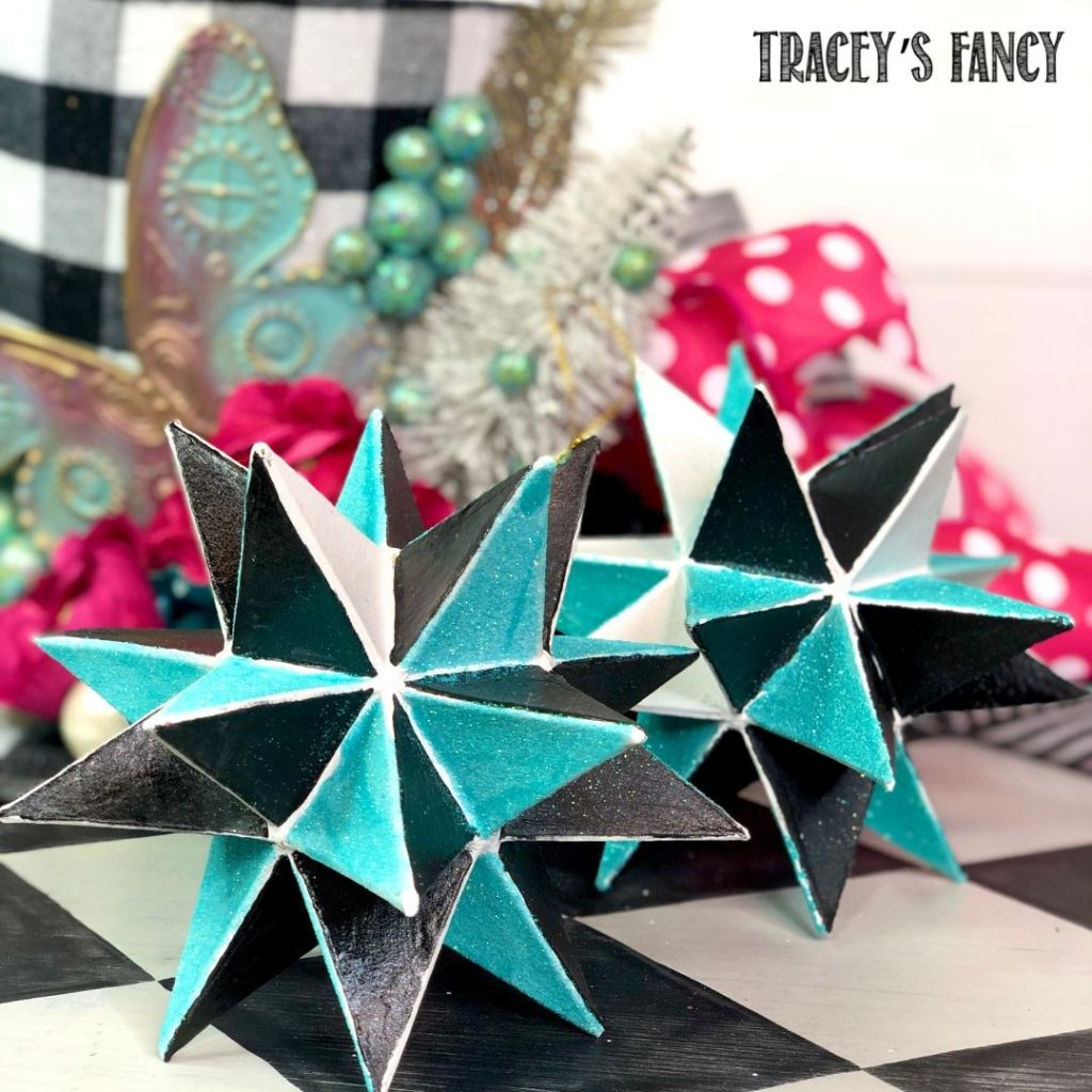 Whimsical moroccan star tree ornaments   Tracey's Fancy