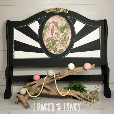 Tropicana bed with sunburst pattern by Tracey's Fancy