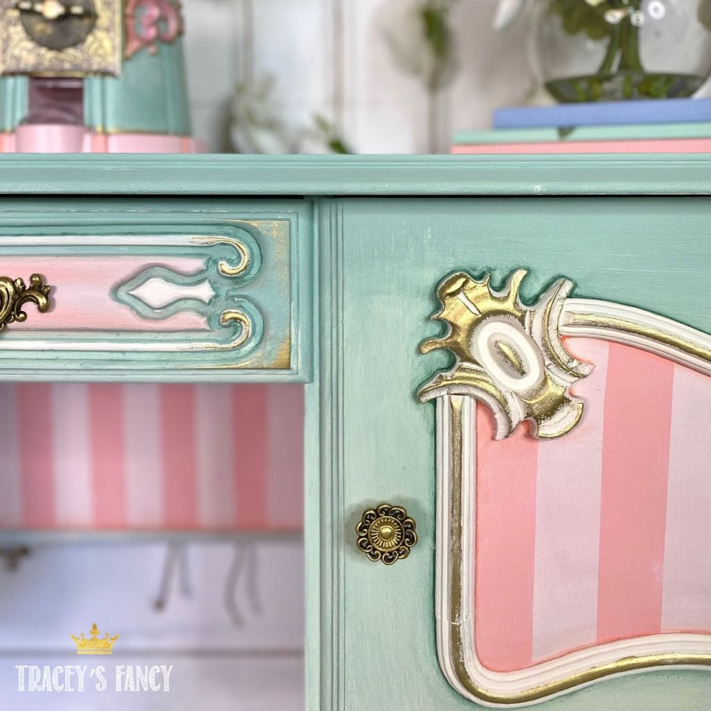 whimsical ombre painted vanity   Tracey's Fancy