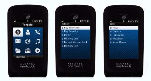 Tracfone Alcatel OneTouch A394C Screenshot