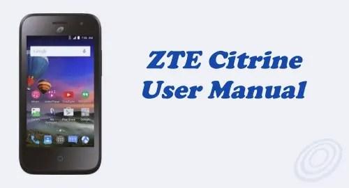 Tracfone ZTE Citrine LTE (Z717VL) User Manual Guide