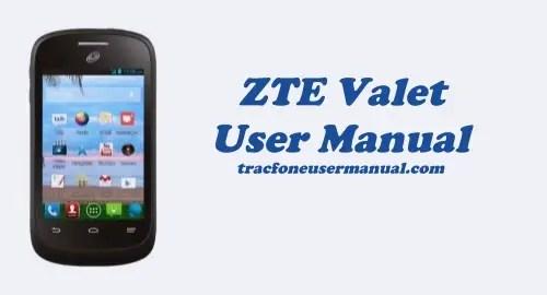 Tracfone ZTE Valet Z665C User Manual Guide