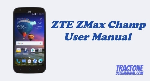 TracFone ZTE ZMAX Champ Z917VL User Manual