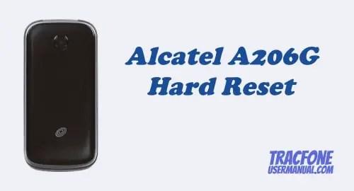 Hard Reset Tracfone Alcatel A206G Flip Phone