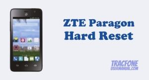How to Hard Reset / Factory Reset TracFone ZTE Paragon Z753G