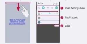 TracFone LG Rebel 2 Notifications