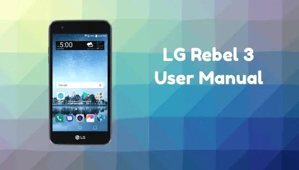 LG Rebel 3 LTE User Manual