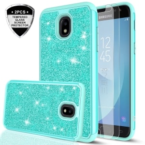 Galaxy J3 Orbit Glitter Protective Case by LeYi