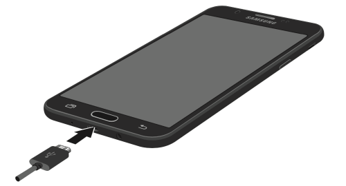 How to Charge the Battery Samsung Galaxy J7 Sky Pro