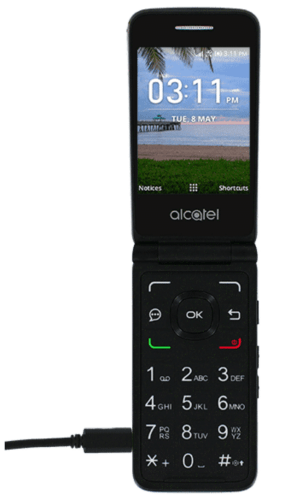 How to charge the battery on Alcatel MyFlip