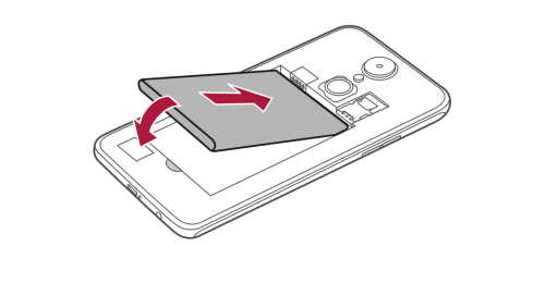 How to Insert Battery in LG Rebel 3 LTE