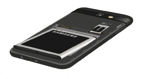 How to Insert Battery in Samsung Galaxy J3 Luna Pro