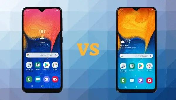 Samsung Galaxy A10e VS Galaxy A20 Comparison