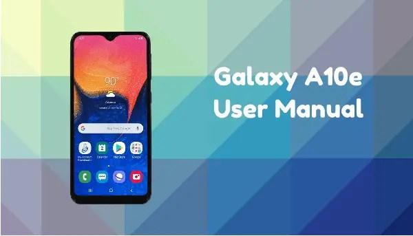 Samsung Galaxy A10e User Manual