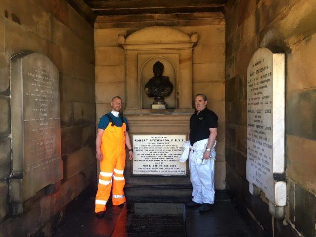 TRAC HLM assist NLB Client to refurbish the Robert Stevenson vault at the New Carlton cemetery in Edinburgh
