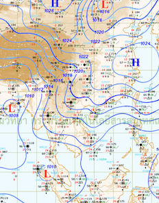 Wind coming into Thailand during November-January is dry because it is from China and did not go thru any ocean