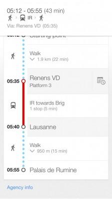 แผนที่จากที่พักไปยัง Palais de Rumine